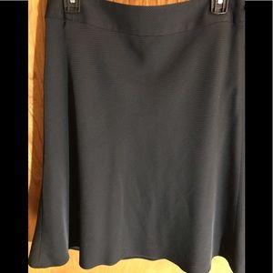 LOFT Black Dotted A-Line Skirt, size 10